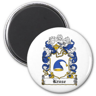 Escudo de la familia de Kruse Imán Redondo 5 Cm