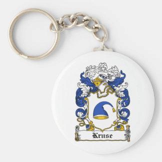 Escudo de la familia de Kruse Llavero Redondo Tipo Pin