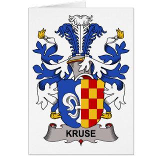 Escudo de la familia de Kruse Tarjeta De Felicitación