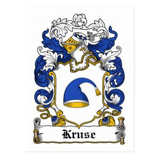 Escudo de la familia de Kruse Tarjeta Postal