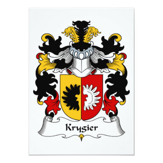 """Escudo de la familia de Krygier Invitación 5"""" X 7"""""""