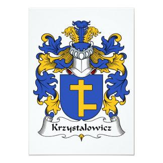 """Escudo de la familia de Krzystalowicz Invitación 5"""" X 7"""""""
