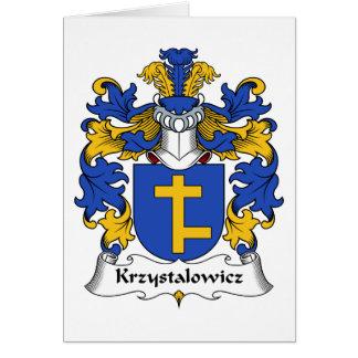 Escudo de la familia de Krzystalowicz Tarjeta De Felicitación