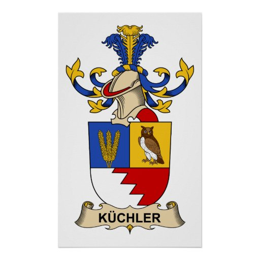 Escudo de la familia de Küchler Póster