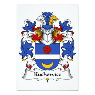 """Escudo de la familia de Kuchowicz Invitación 5"""" X 7"""""""