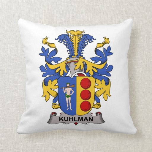 Escudo de la familia de Kuhlman Almohadas
