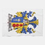 Escudo de la familia de Kuhlman Toallas De Mano