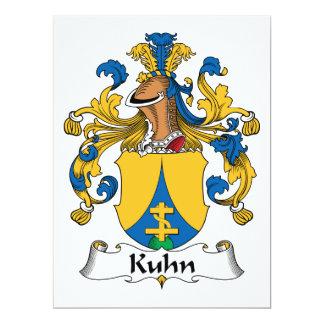 """Escudo de la familia de Kuhn Invitación 6.5"""" X 8.75"""""""