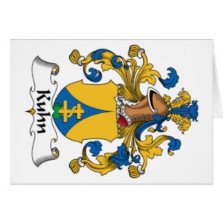 Escudo de la familia de Kuhn Tarjeta De Felicitación