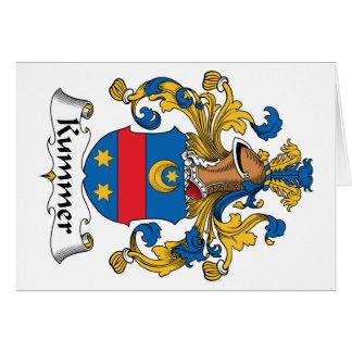 Escudo de la familia de Kummer Tarjeta De Felicitación
