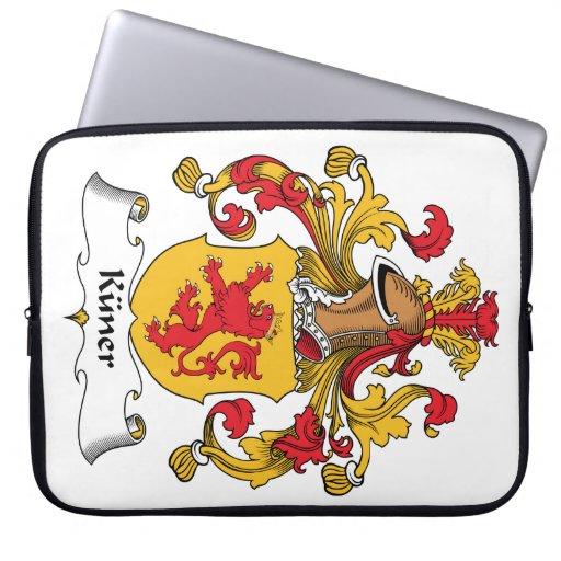 Escudo de la familia de Kuner Fundas Portátiles