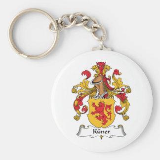 Escudo de la familia de Kuner Llavero Redondo Tipo Pin