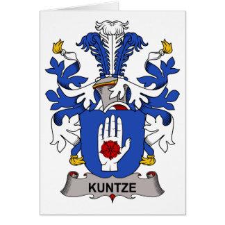 Escudo de la familia de Kuntze Tarjeta De Felicitación