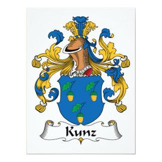 Escudo de la familia de Kunz Invitación 16,5 X 22,2 Cm