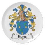 Escudo de la familia de Kunz Platos Para Fiestas