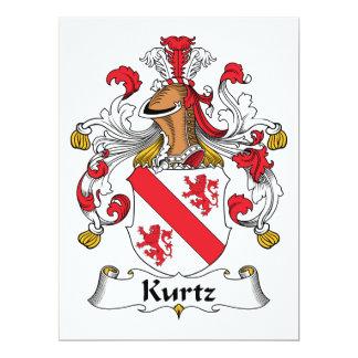 Escudo de la familia de Kurtz Invitación 16,5 X 22,2 Cm