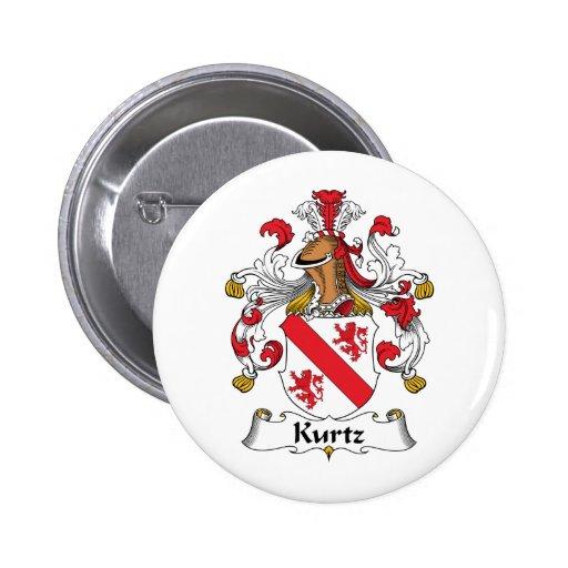 Escudo de la familia de Kurtz Pin Redondo 5 Cm