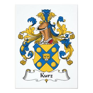 Escudo de la familia de Kurz Invitación 16,5 X 22,2 Cm