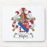 Escudo de la familia de Kuster Tapetes De Ratones