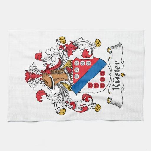 Escudo de la familia de Kuster Toallas De Mano