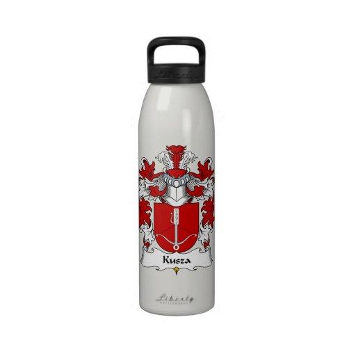 Escudo de la familia de Kusza Botellas De Agua Reutilizables