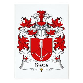 """Escudo de la familia de Kusza Invitación 5"""" X 7"""""""