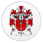 Escudo de la familia de Kusza Reloj De Pared
