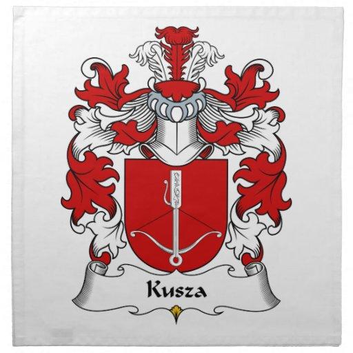 Escudo de la familia de Kusza Servilleta Imprimida