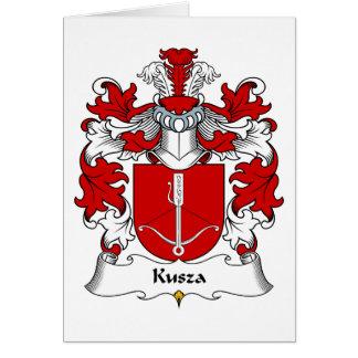 Escudo de la familia de Kusza Tarjeta De Felicitación
