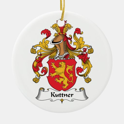 Escudo de la familia de Kuttner Adorno Redondo De Cerámica