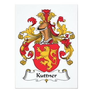 Escudo de la familia de Kuttner Invitación 16,5 X 22,2 Cm