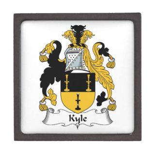 Escudo de la familia de Kyle Caja De Recuerdo De Calidad