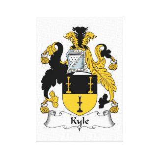 Escudo de la familia de Kyle Impresiones En Lienzo Estiradas