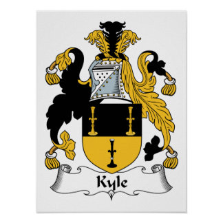 Escudo de la familia de Kyle Posters