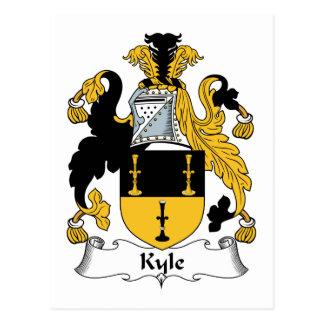 Escudo de la familia de Kyle Tarjetas Postales