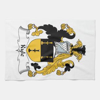 Escudo de la familia de Kyle Toalla De Mano