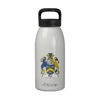 Escudo de la familia de la abeja botella de agua