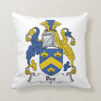 Escudo de la familia de la abeja almohada