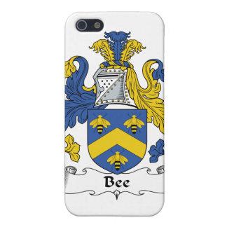 Escudo de la familia de la abeja iPhone 5 funda