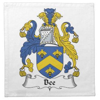 Escudo de la familia de la abeja servilletas imprimidas