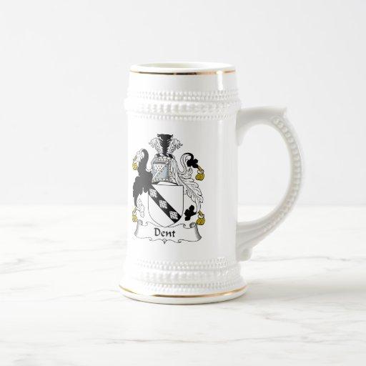 Escudo de la familia de la abolladura tazas de café