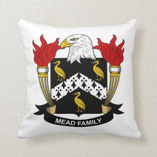 Escudo de la familia de la aguamiel cojín decorativo