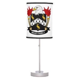 Escudo de la familia de la aguamiel lámpara de mesa