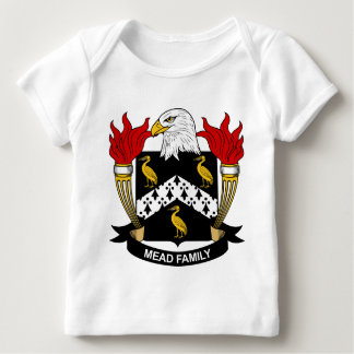 Escudo de la familia de la aguamiel playera de bebé