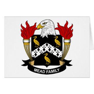 Escudo de la familia de la aguamiel tarjeta de felicitación