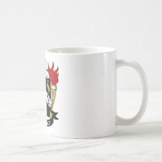 Escudo de la familia de la aguamiel taza de café