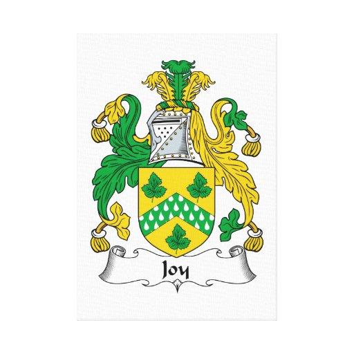 Escudo de la familia de la alegría impresiones en lona estiradas