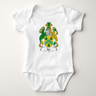 Escudo de la familia de la alegría mameluco de bebé