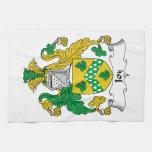 Escudo de la familia de la alegría toallas de cocina