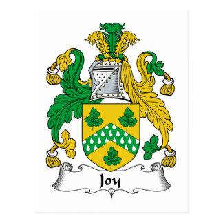 Escudo de la familia de la alegría postales